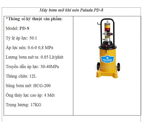 Những thông số kỹ thuật cần thiết khi chọn mua máy bơm mỡ