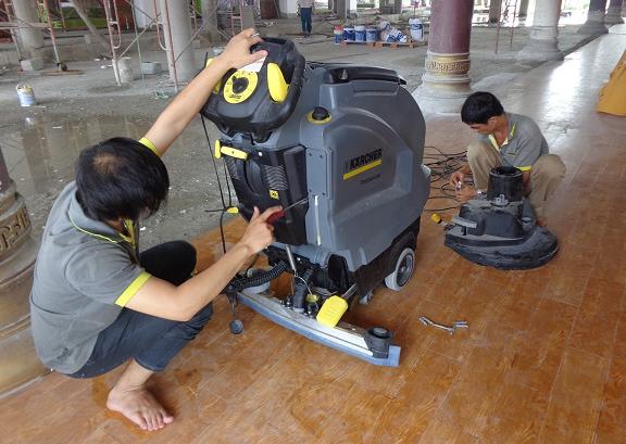 Kiểm tra bảo dưỡng thiết bị thường xuyên cho hiệu quả vệ sinh cao