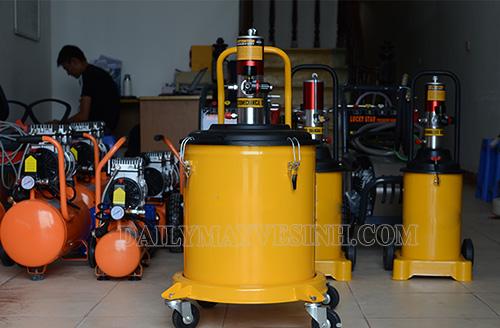 Máy bơm mỡ khí nén được nhiều doanh nghiệp lựa chọn sử dụng