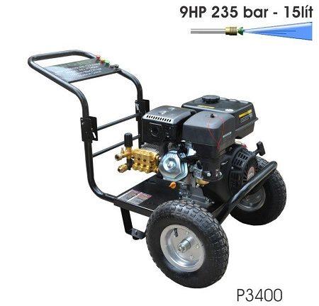 Máy bơm rửa xe chạy xăng có thiết kế bền chắc, động cơ khỏe