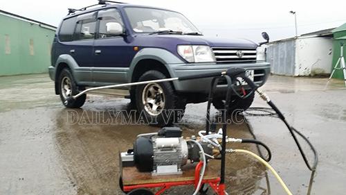 Máy rửa xe tự chế thường có thiết kế không đẹp và độ bền không cao