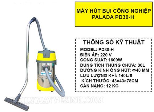 Bảng thông số kỹ thuật của máy hút bụi công nghiệp Palada PD30-H