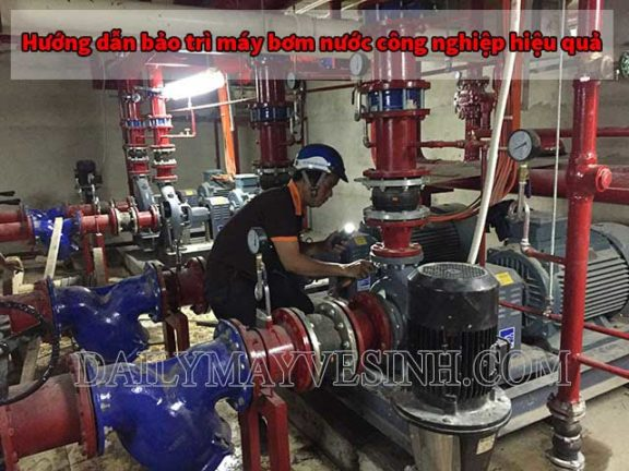 Hướng dẫn bảo trì máy bơm công nghiệp đúng chuẩn