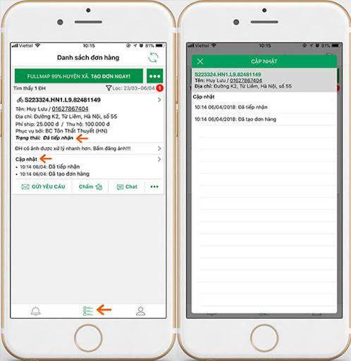 Tra cứu mã vận đơn GHTK qua ứng dụng